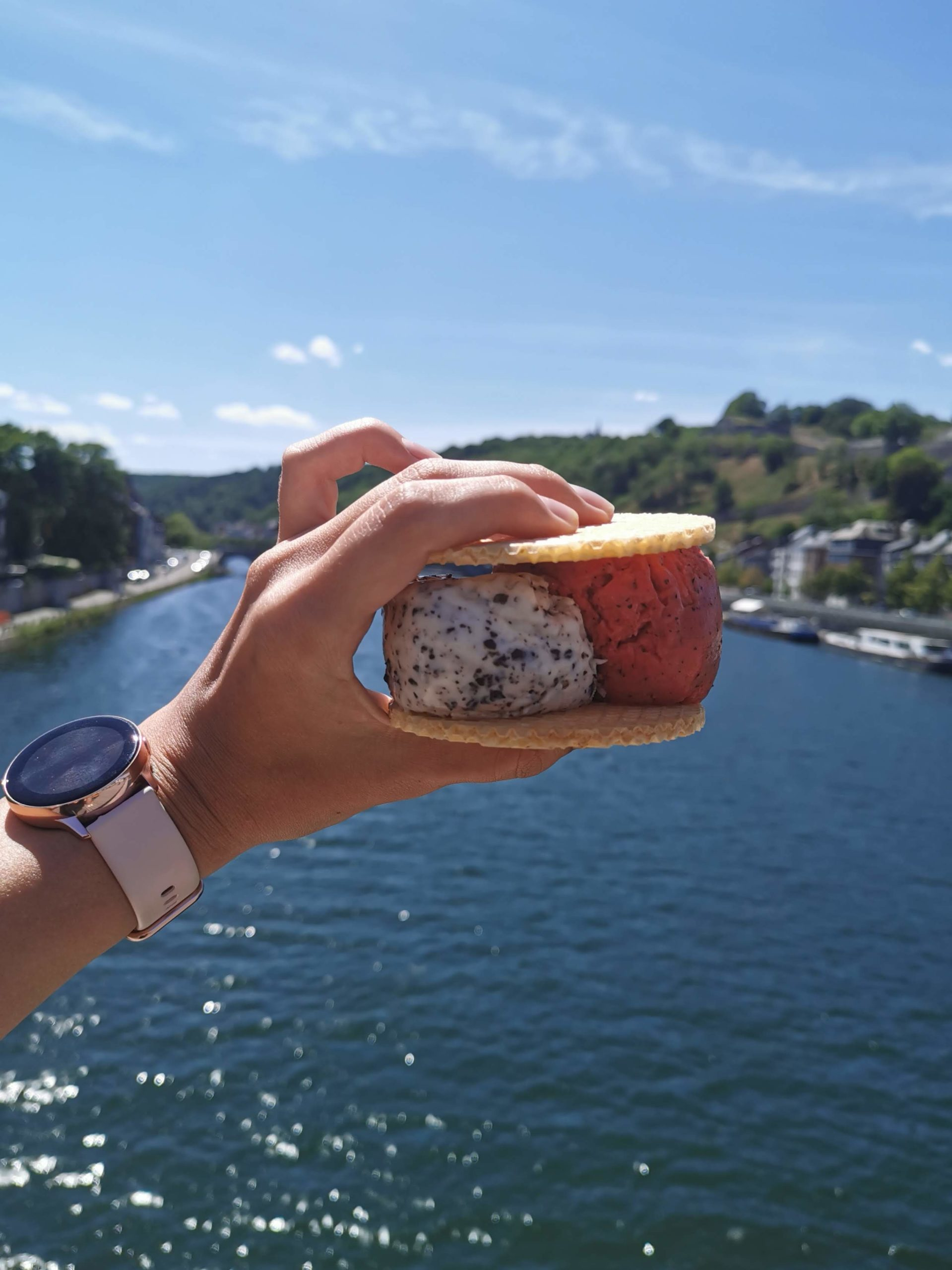 Manger une glace à Namur